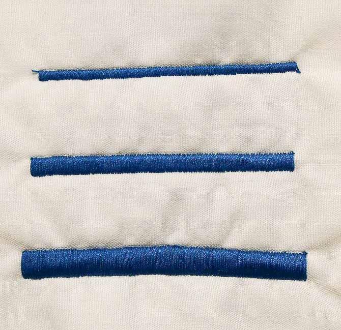 The satin stitch