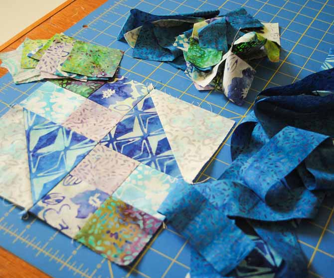 Scraps from the Starstruck quilt