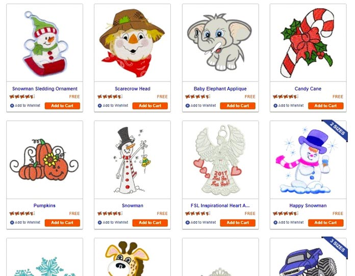 Free designs on www.embroiderydesigns.com