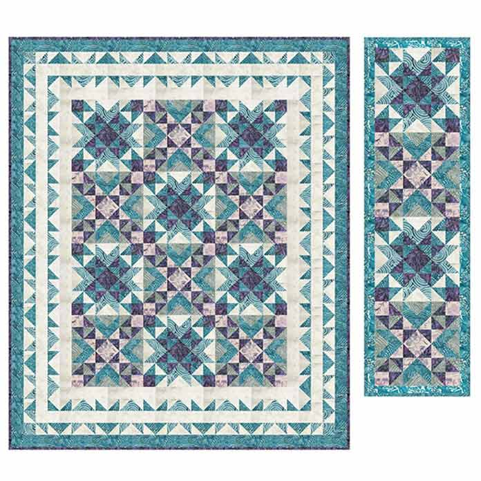 Sea Breeze by Linda J. Hahn using Banyan Batiks, Island Vibes fabrics