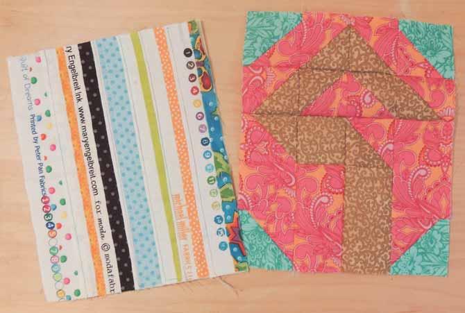 Selvage fabric for mug rug backing