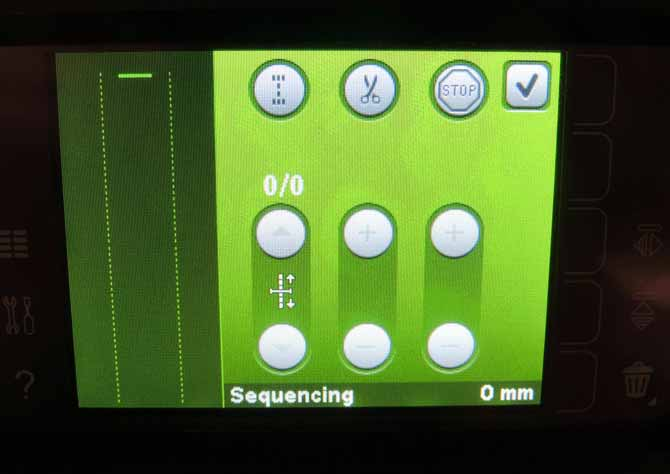 Sequencing screen Performance 5.2 Color Touch Screen