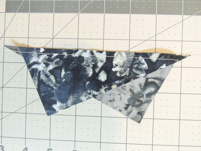 Sewn half rectangles