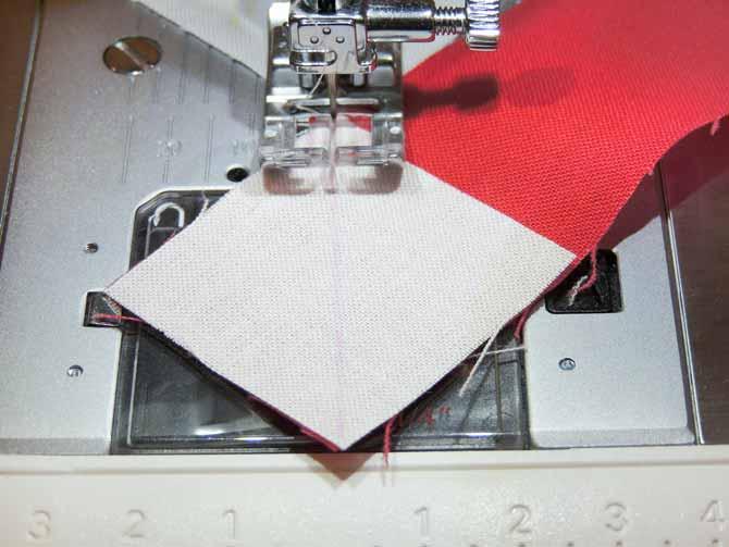 sew on drawn line closeup sewing