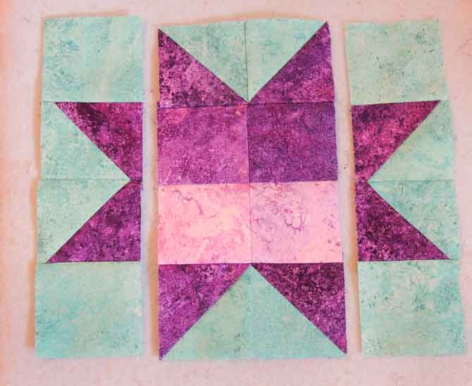 Star columns sewn