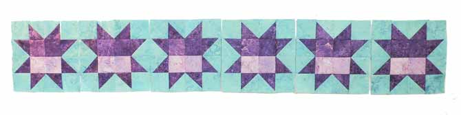 Row of star blocks