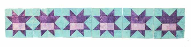 Row of star blocks