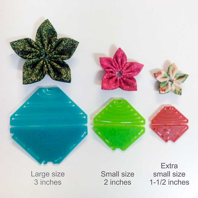 Fabric flower sizes