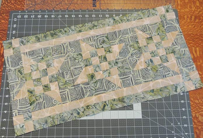 Assembled table runner