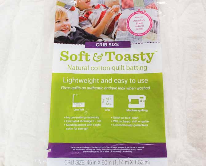 Soft & Toasty batting from Fairfield - see our review on quilt batting, QUILTsocial