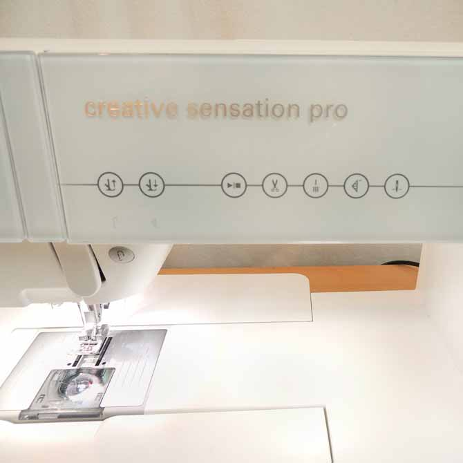 Soft touch buttons on the PFAFF Creative Sensation Pro