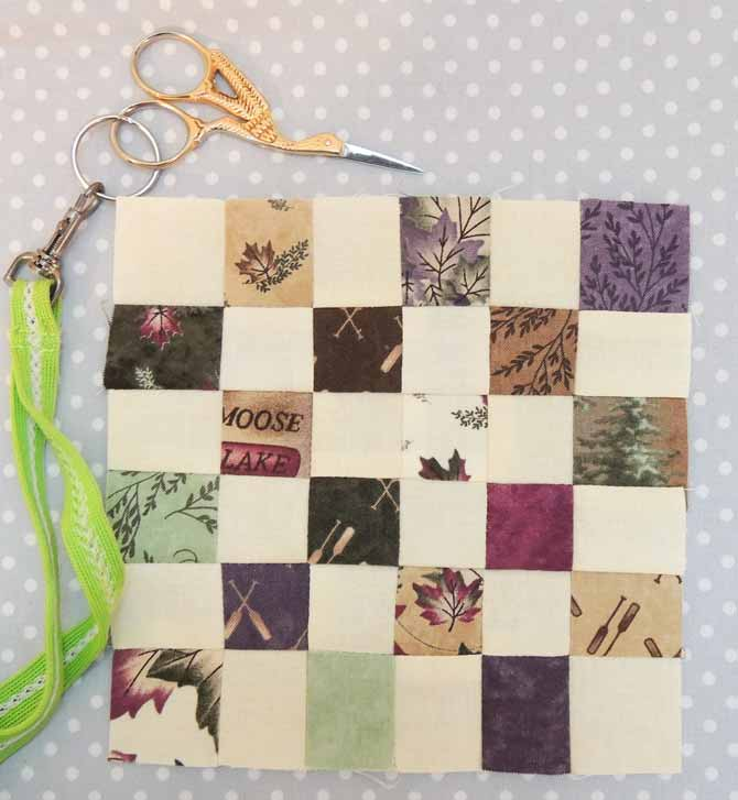 Patchwork Checkerboard Block