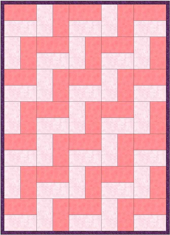 The most simple split rail design - using 2 strips per block