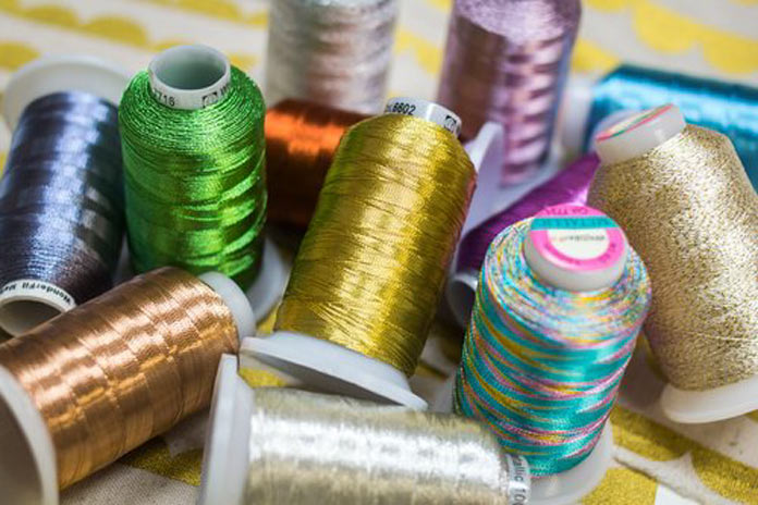 Spools of Spotlite threads are so versatile and add bling to your quilting.
