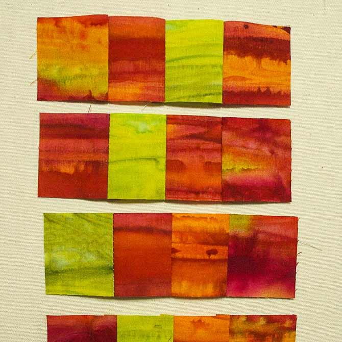 Four squares per rectangle piece
