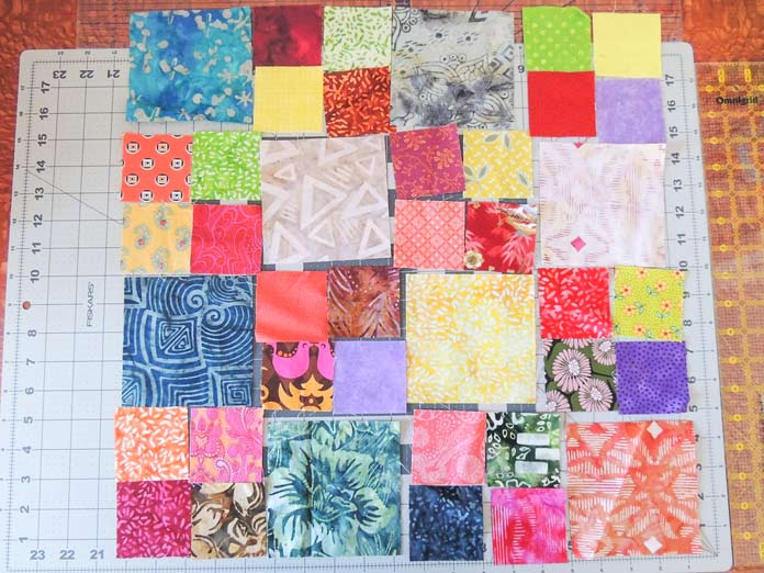 Layout for patchwork panel
