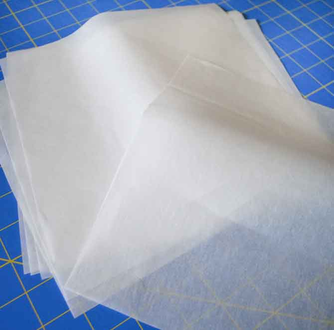 Squares of fusible web