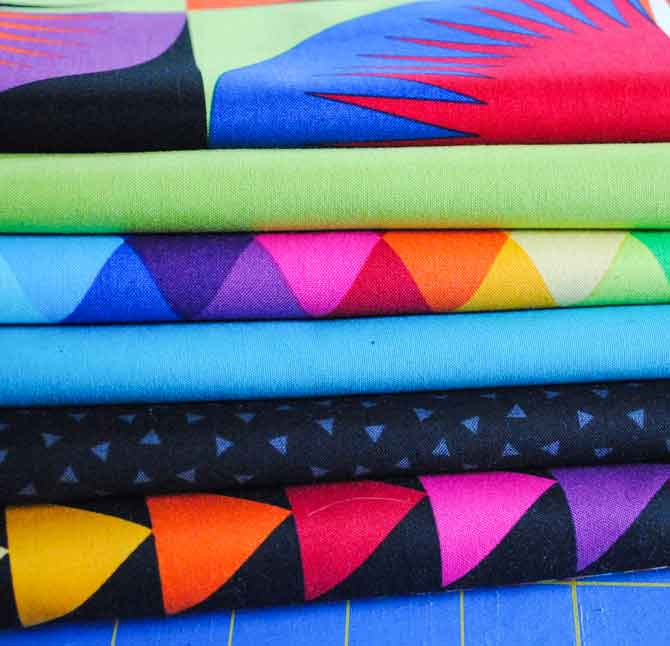 My stack of Colorworks Concept fabrics