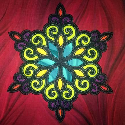 Sewing a Stained Glass Snowflake