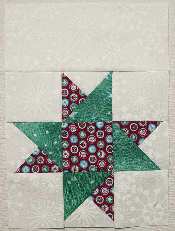 Star block with extra piece added