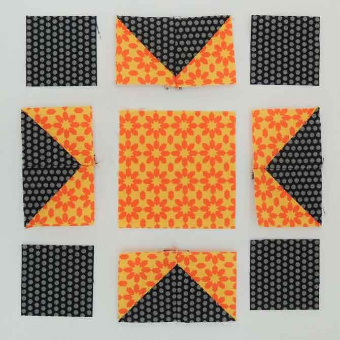 star block layout patchwork star