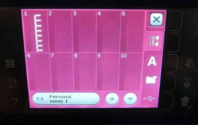 Personal menu Performance 5.2