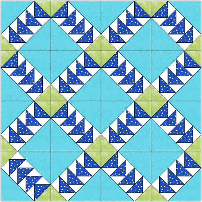 Quilt design concept using paper pieced block & StitchnSew EZ Print Quilt Block Sheets.