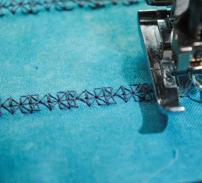 The second stitch sample of the My Custom Stitch design on the NQ900.