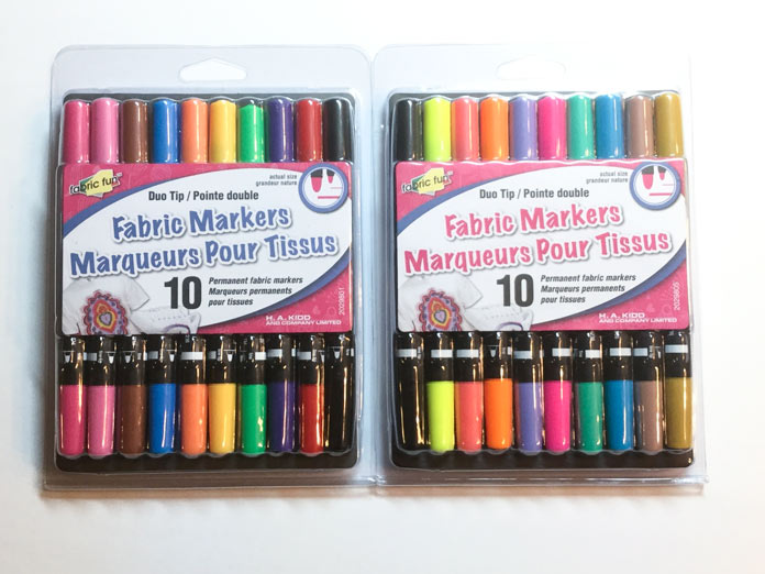 Store your FABRIC FUN Fabric Markers flat when not in use for longer life.