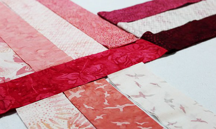 Choosing your fabrics for the table runner