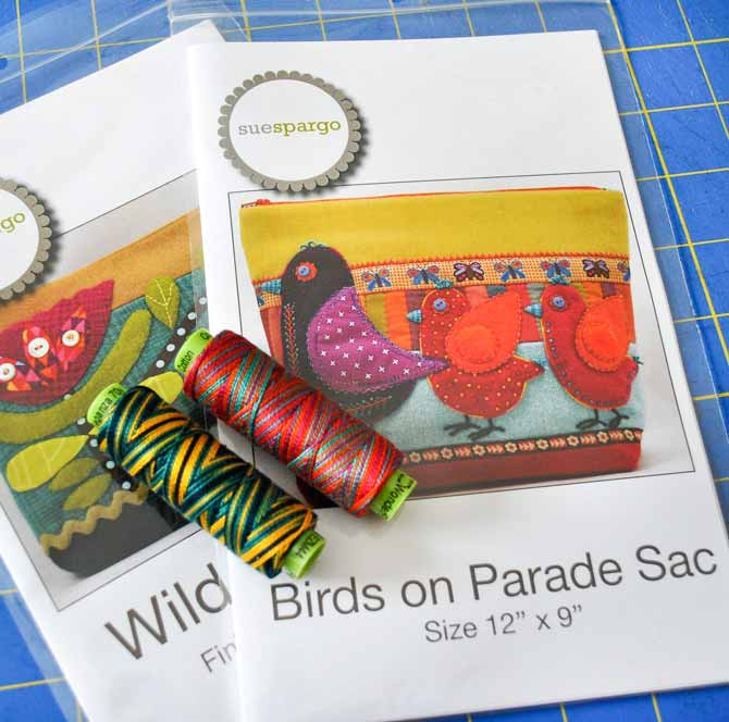 Sue Spargo patterns to use with the rest of the Eleganza Thread