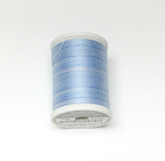 Sulky 30 weight cotton Blendables thread is beautiful for quilting and will help add visual weight and depth to thread painting; a tutorial on thread painting.