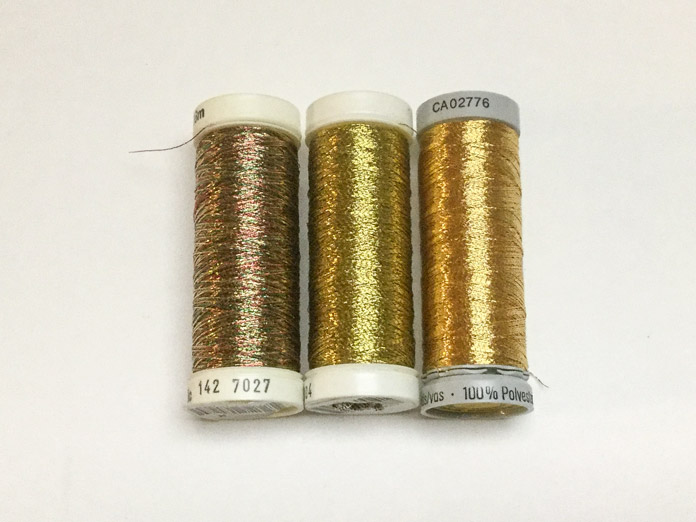 Sulky and Gütermann Metallic threads