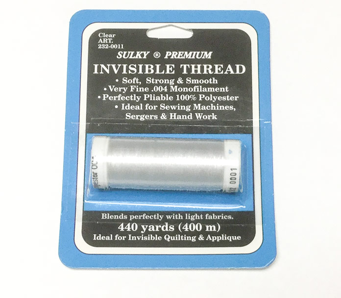 Sulky Premium invisible polyester thread will be used to quilt areas where we want the texture to show but not the thread   Sulky