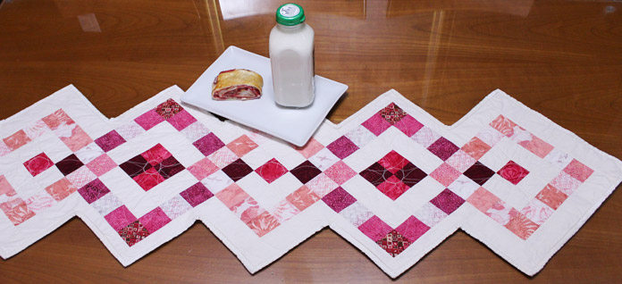 table runner featured in QUILTsocial