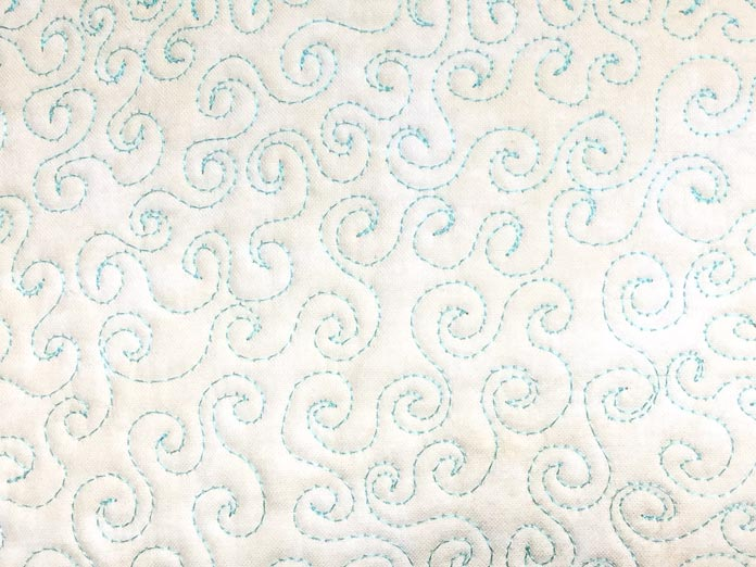 Swirl design background quilting