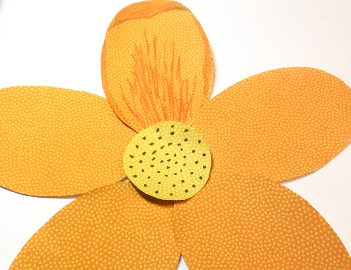 The flower will look three dimensional with the accents to the petals and center.