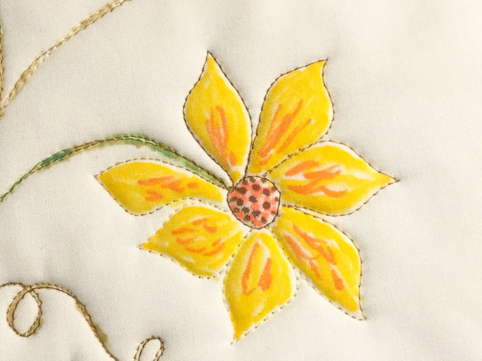 The look of applique without taking an extra stitch
