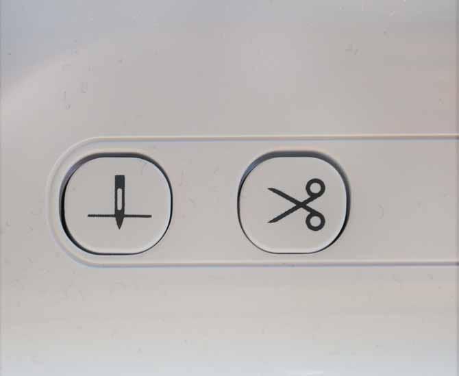The thread cutter button
