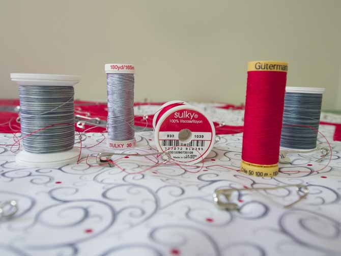 Thread choices for quilting