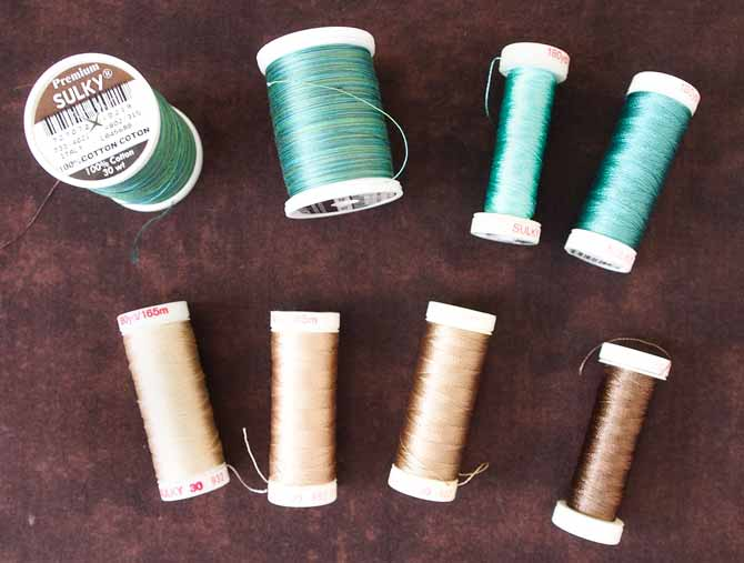 Array of Sulky thread in cotton and rayon