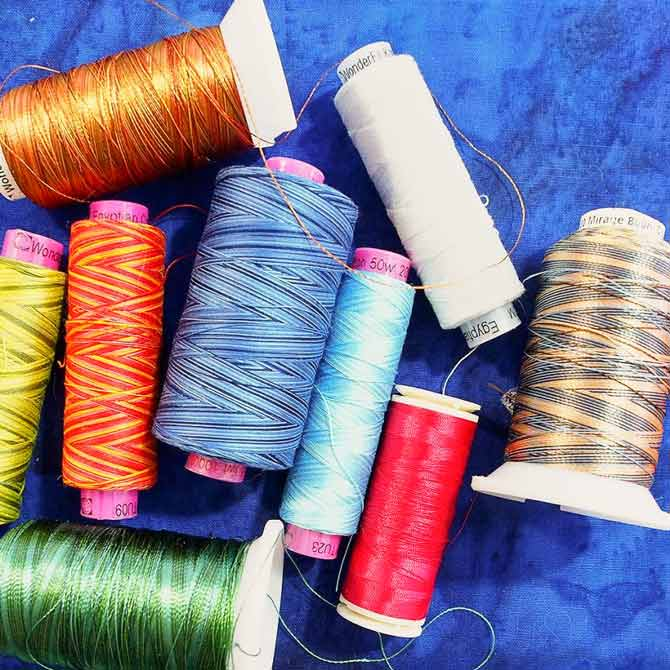 A variety of Wonderfil threads