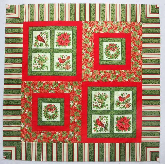 'Tis the Season wall quilt with mitered border