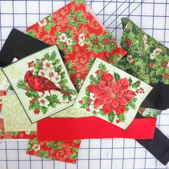 Leftovers from my Northcott 'Tis the Season quilts