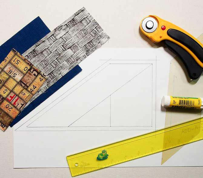 Paper piecing tools