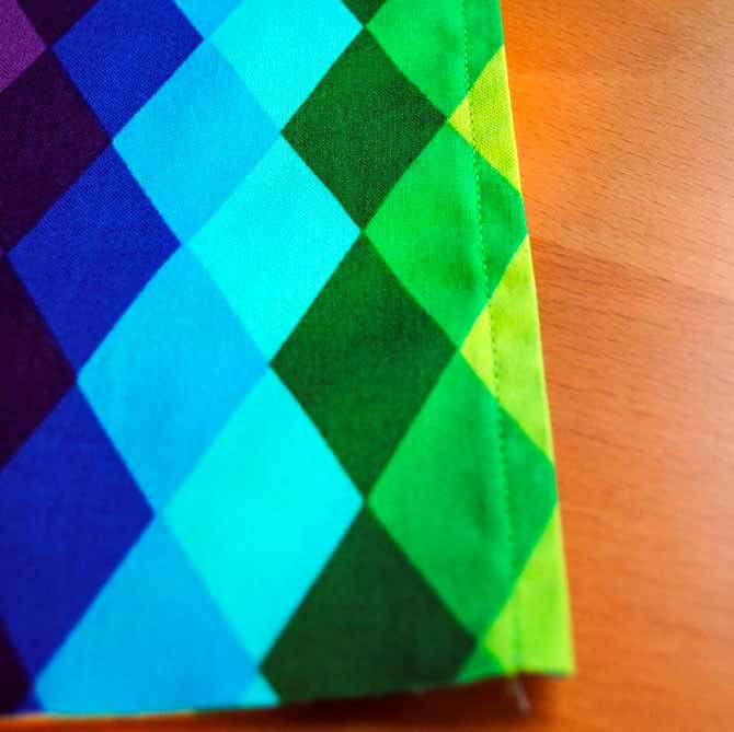 Topstitch along the sewn edge of the large pocket