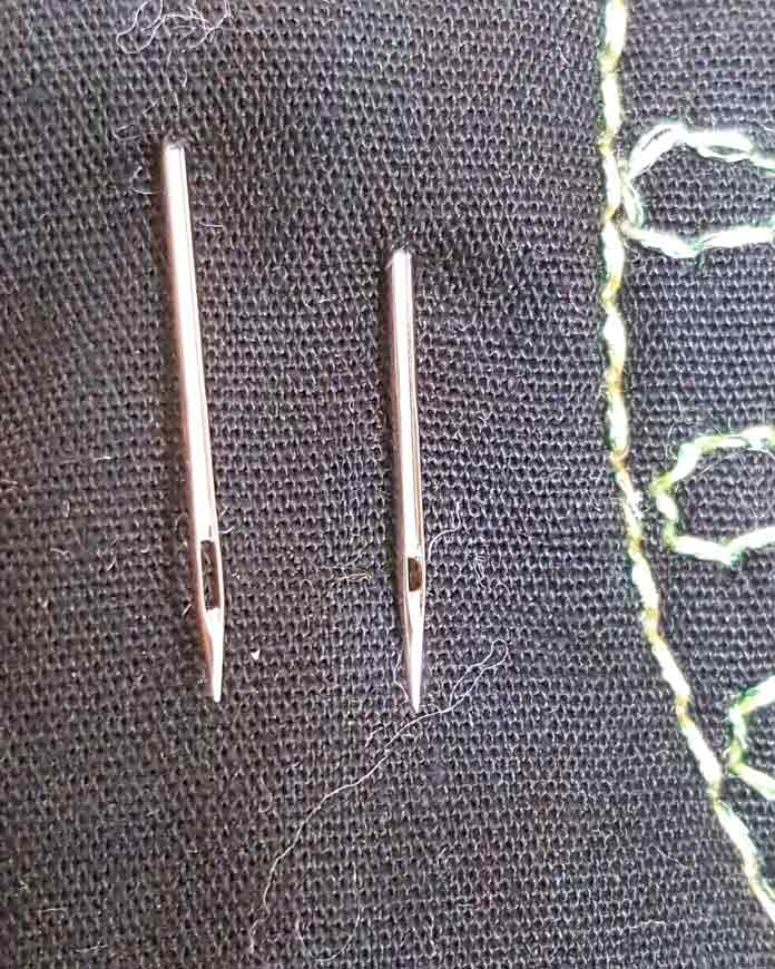 Topstitch needle and Universal needle