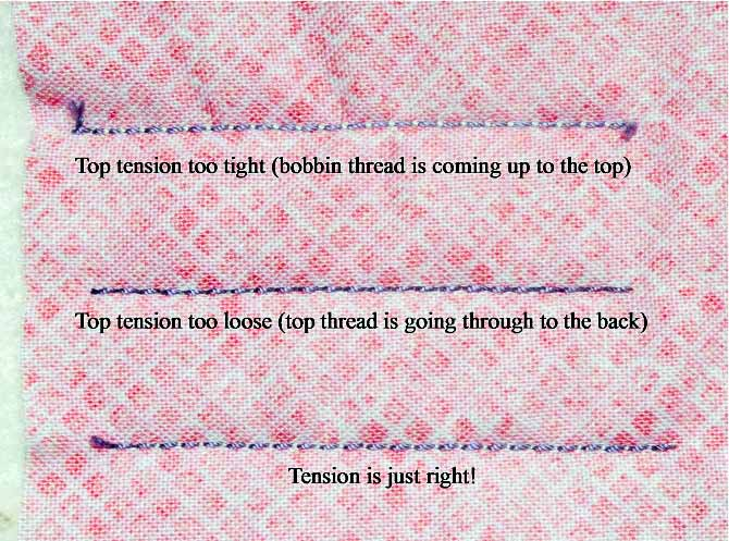 tension test - top of quilt