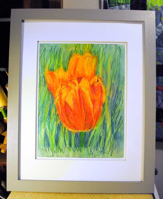 Tulip in the frame