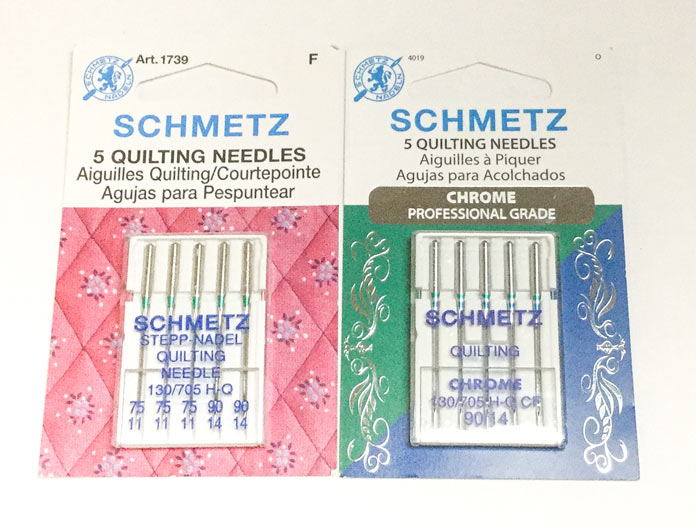 SCHMETZ quilting needles standard and chrome; a tutorial on thread painting.